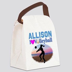 VOLLEYBALL STAR Canvas Lunch Bag