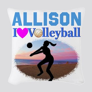 VOLLEYBALL STAR Woven Throw Pillow