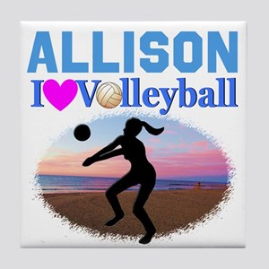 VOLLEYBALL STAR Tile Coaster