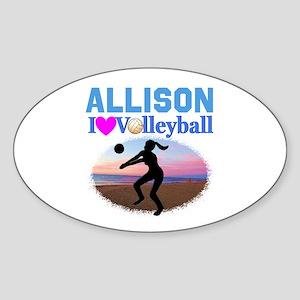 VOLLEYBALL STAR Sticker (Oval)