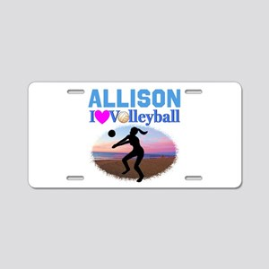 VOLLEYBALL STAR Aluminum License Plate