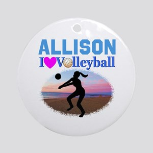 VOLLEYBALL STAR Round Ornament
