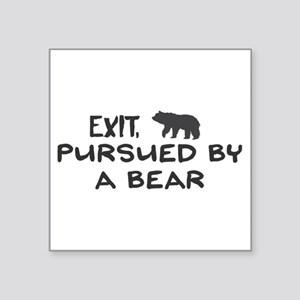 Exit, pursued by a bear Sticker