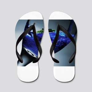 Island in a Glass Flip Flops