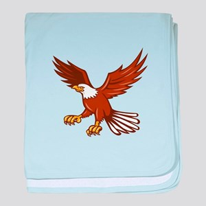 American Eagle Swooping Isolated Retro baby blanke