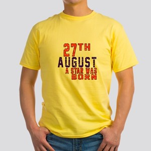 27 August A Star Was Born Yellow T-Shirt