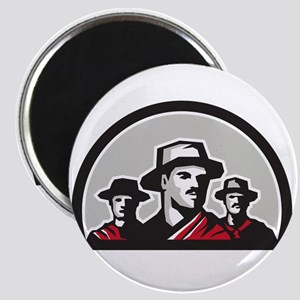 Gauchos Half Circle Retro Magnets