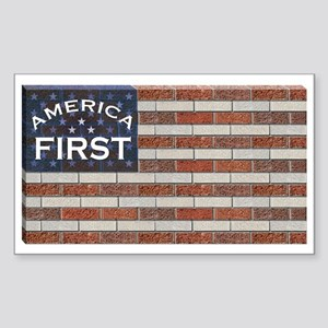 America First Sticker (Rectangle)