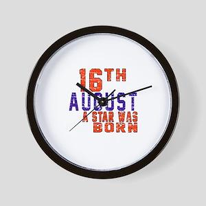 16 August A Star Was Born Wall Clock