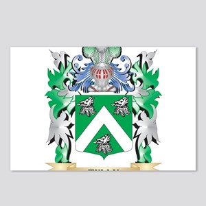 Tully Coat of Arms - Fami Postcards (Package of 8)