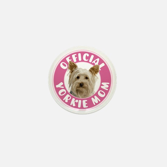 Official Yorkie Mom - Mini Button