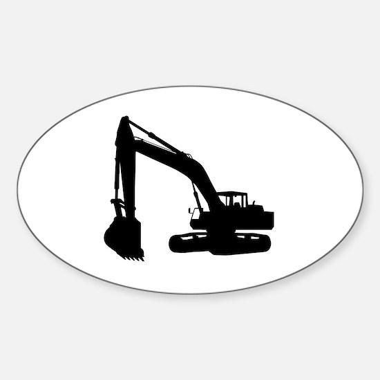 Cute Dump truck Sticker (Oval)