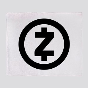 HD Zcash Official Logo Z Cash Coin Throw Blanket