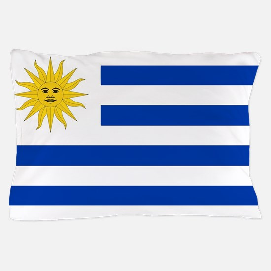 Uruguay Flag Pillow Case