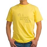 Bruce Mens Classic Yellow T-Shirts