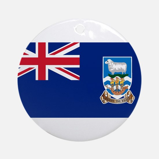 Falkland Islands Flag Round Ornament