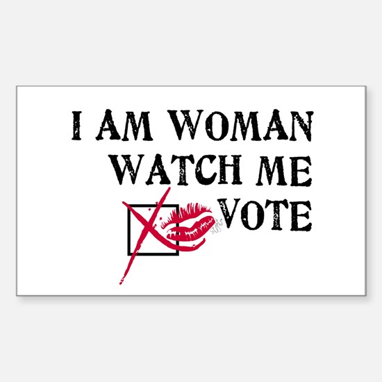 Watch Me Vote! Rectangle Decal