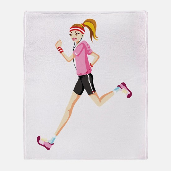 Funny Running Throw Blanket