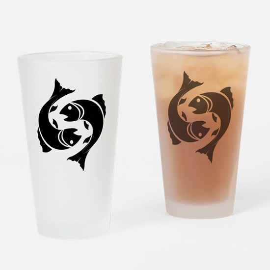 Funny Pisces Drinking Glass