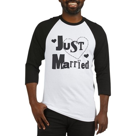 Just Married Black Baseball Jersey