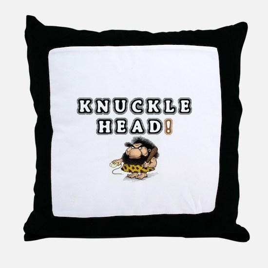 KNUCKLEHEAD! Throw Pillow
