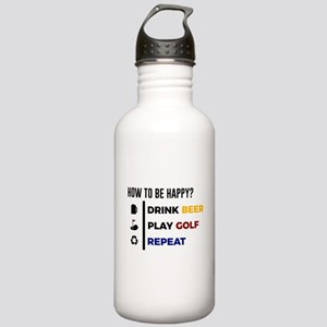 Be Happy Drink Beer Pl Stainless Water Bottle 1.0L