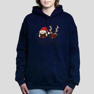 Merry Pugmas Santa & Reindeer Pu Sweatshirt