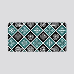 BOHO TILE Aluminum License Plate