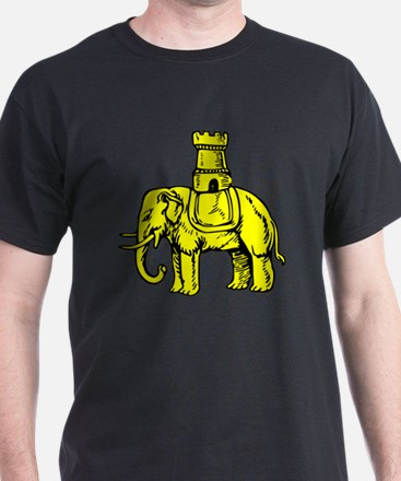 Cute Elephant and castle T-Shirt