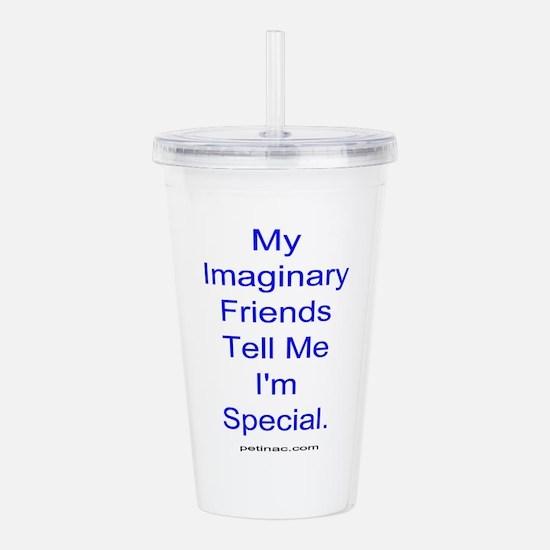 imaginary friends Acrylic Double-wall Tumbler