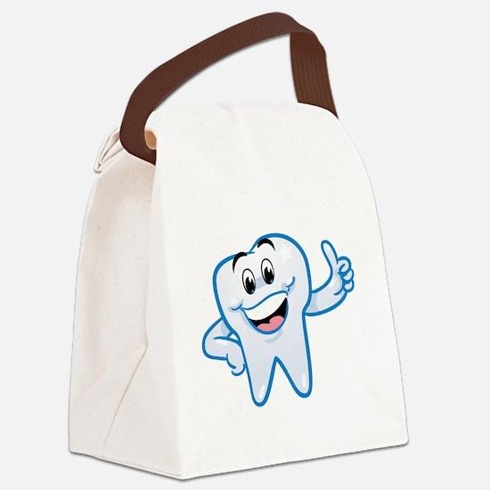 Cute Teeth Canvas Lunch Bag