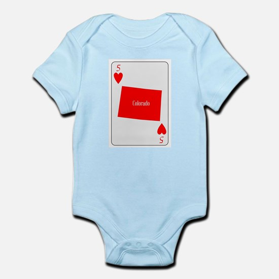 USA Playing Card Ace Hearts Body Suit