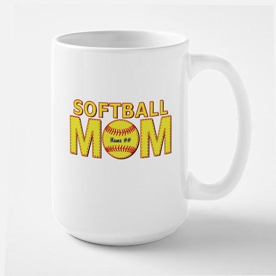 Personalized Softball Mom Mugs