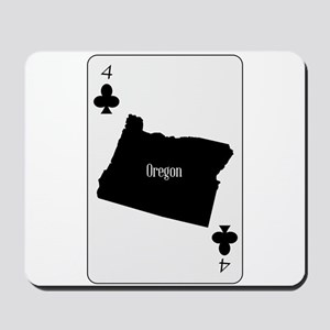 USA Playing Card Ace Clubs Mousepad