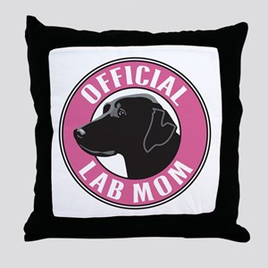 Official Lab Mom - Throw Pillow