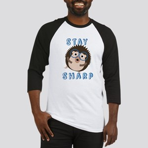 Stay Sharp Hipster Funny Hedgehog Baseball Jersey