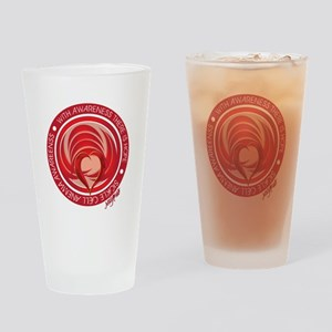 Sickle Cell Awareness Drinking Glass