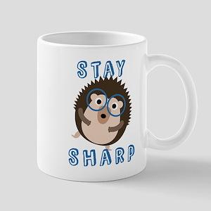Stay Sharp Hipster Funny Hedgehog Mugs