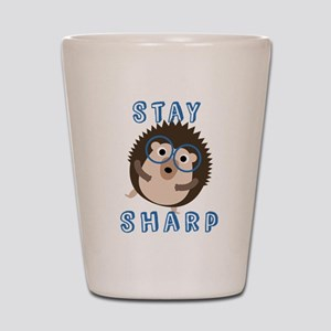 Stay Sharp Hipster Funny Hedgehog Shot Glass