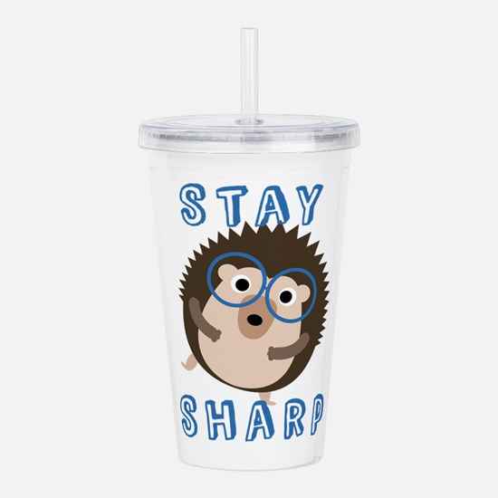 Stay Sharp Hipster Fun Acrylic Double-wall Tumbler
