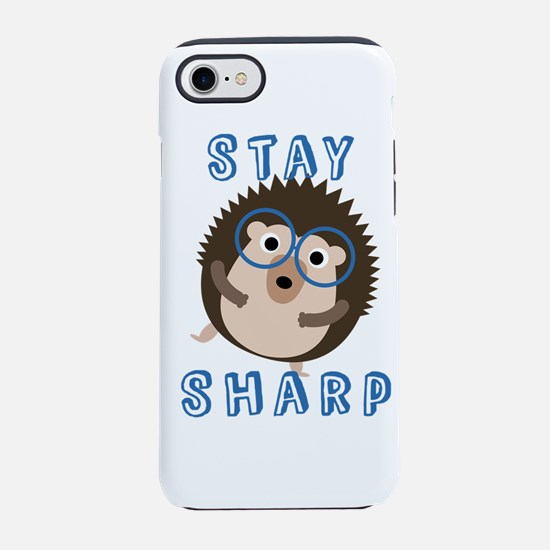 Stay Sharp Hipster Funny Hed iPhone 8/7 Tough Case