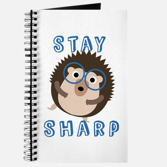 Stay Sharp Hipster Funny Hedgehog Journal