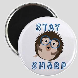 Stay Sharp Hipster Funny Hedgehog Magnets