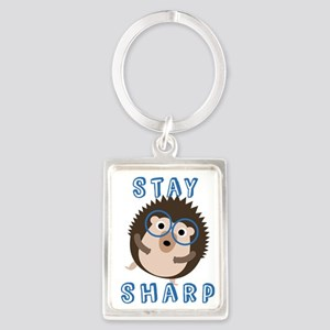 Stay Sharp Hipster Funny Hedgehog Keychains