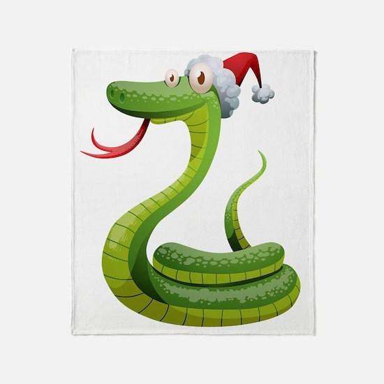 Cute Snake Throw Blanket