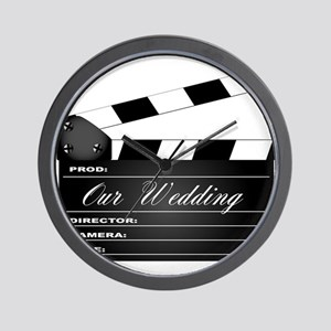 Our Wedding Clapperboard Wall Clock