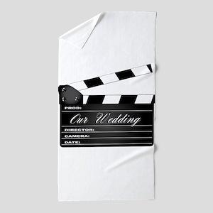 Our Wedding Clapperboard Beach Towel