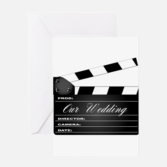Our Wedding Clapperboard Greeting Cards