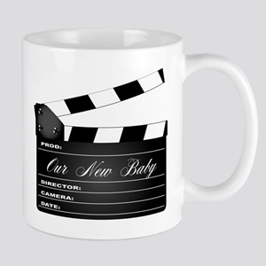 Our New Baby Clapperboard Mugs