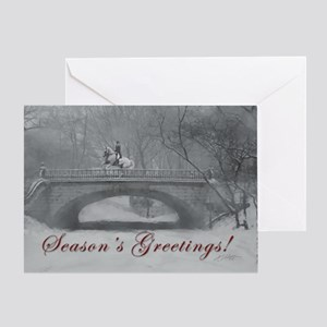 Winter Christmas dressage horse Greeting Card